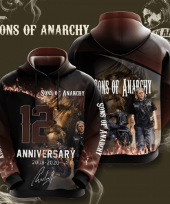 Sons Of Anarchy 12 Anniversary Hoodie